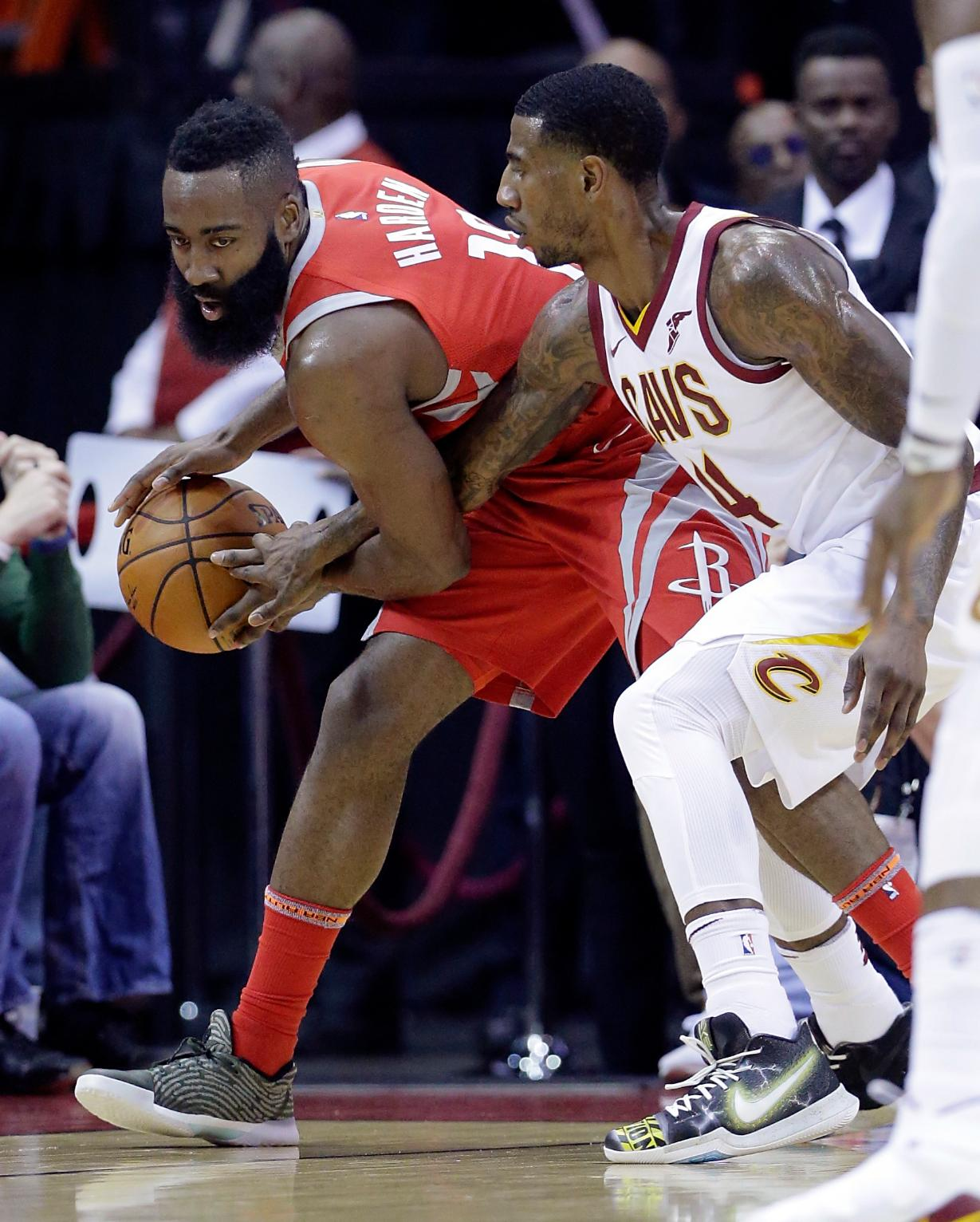 Harden Has Triple-Double, Rockets Hold off Cavs 117-113 ...