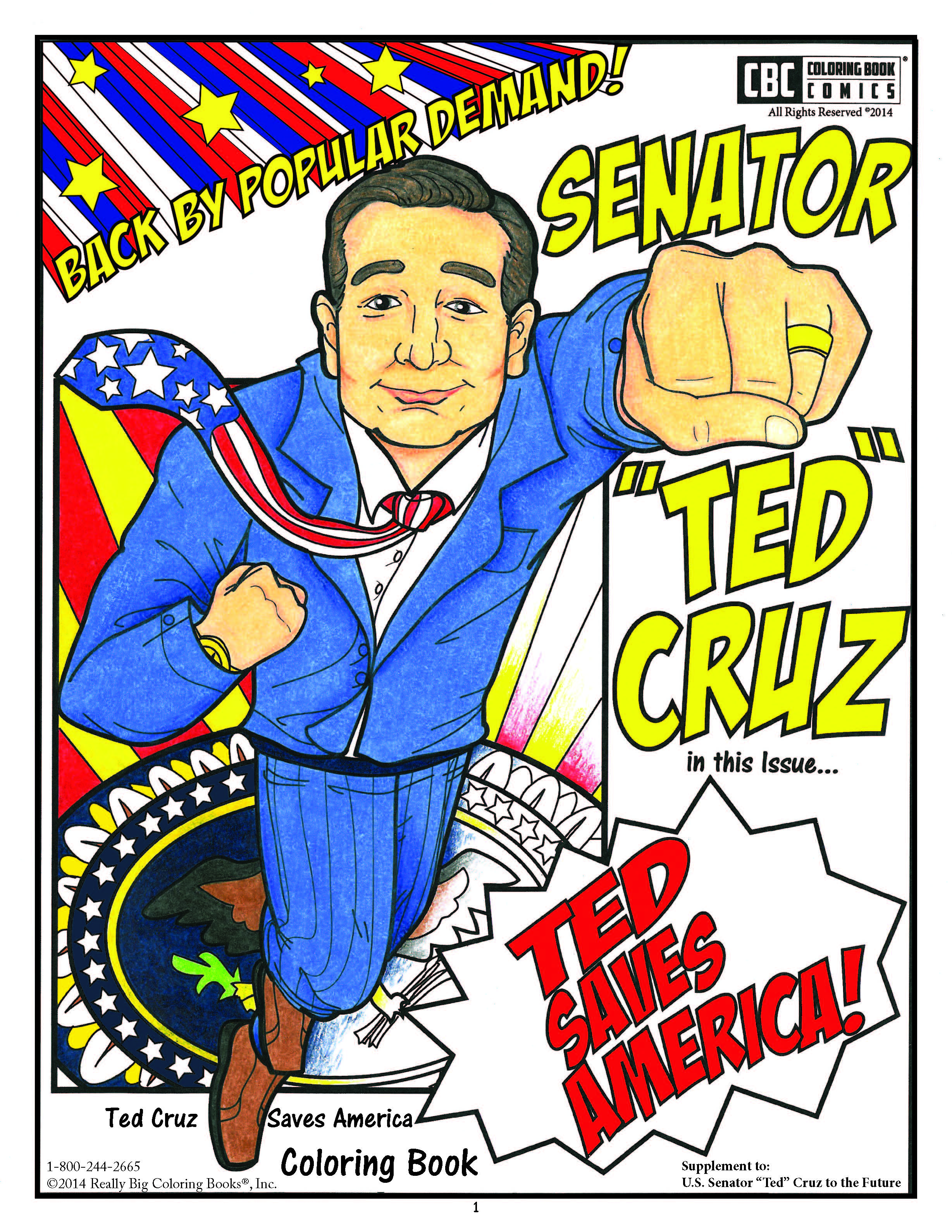 New Ted Cruz Coloring Book Takes Him to the White House