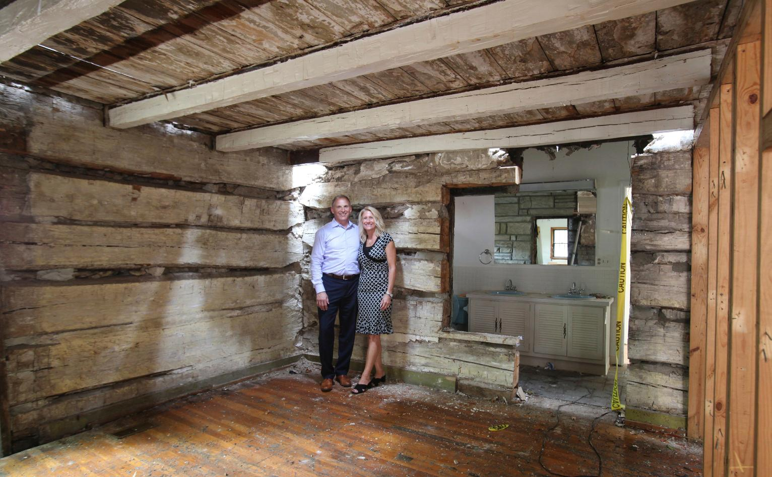 Owners discover home is preserved 19th century log cabin for Log cabin builders in alabama