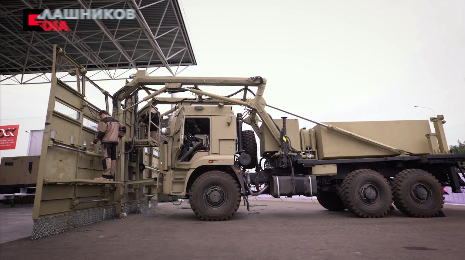 russian kalashnikov arms maker presents riot control vehicle