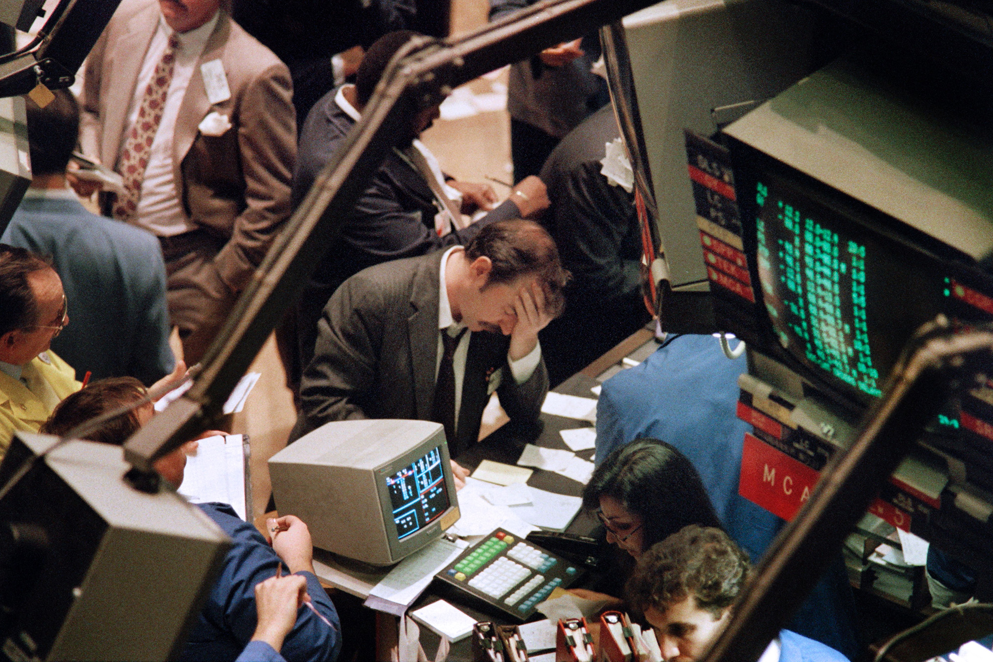 Image result for stock market crash 1987