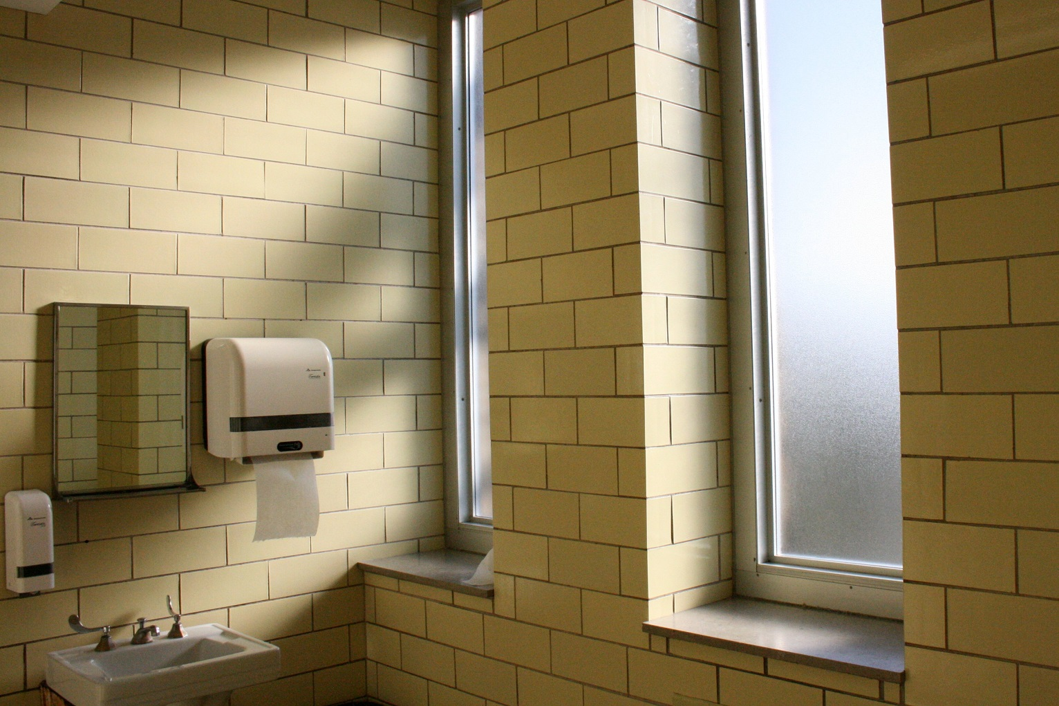 High School Bathroom minority and low-income students face their own school bathroom