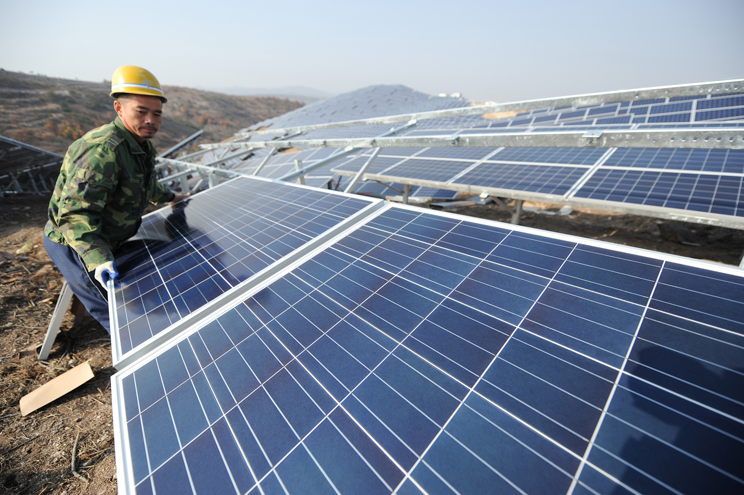 Image result for solar panels china manufacturing on global warming