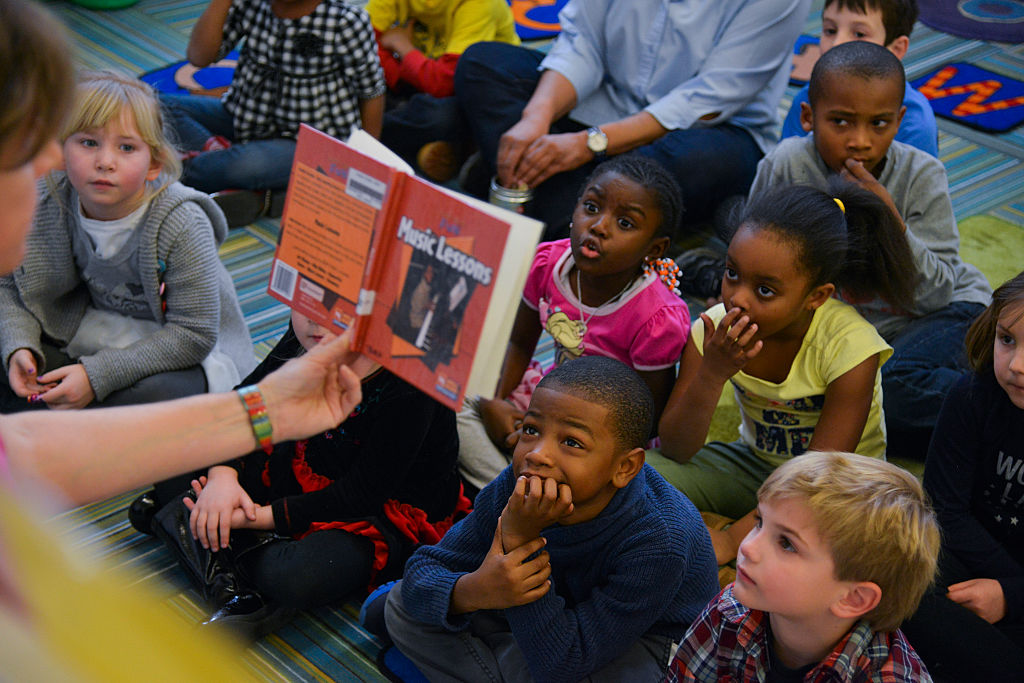 """public education should start in preschool """"we believe that preschool is an integral part of the public school system  before starting, she asked each child to turn to a partner and explain."""