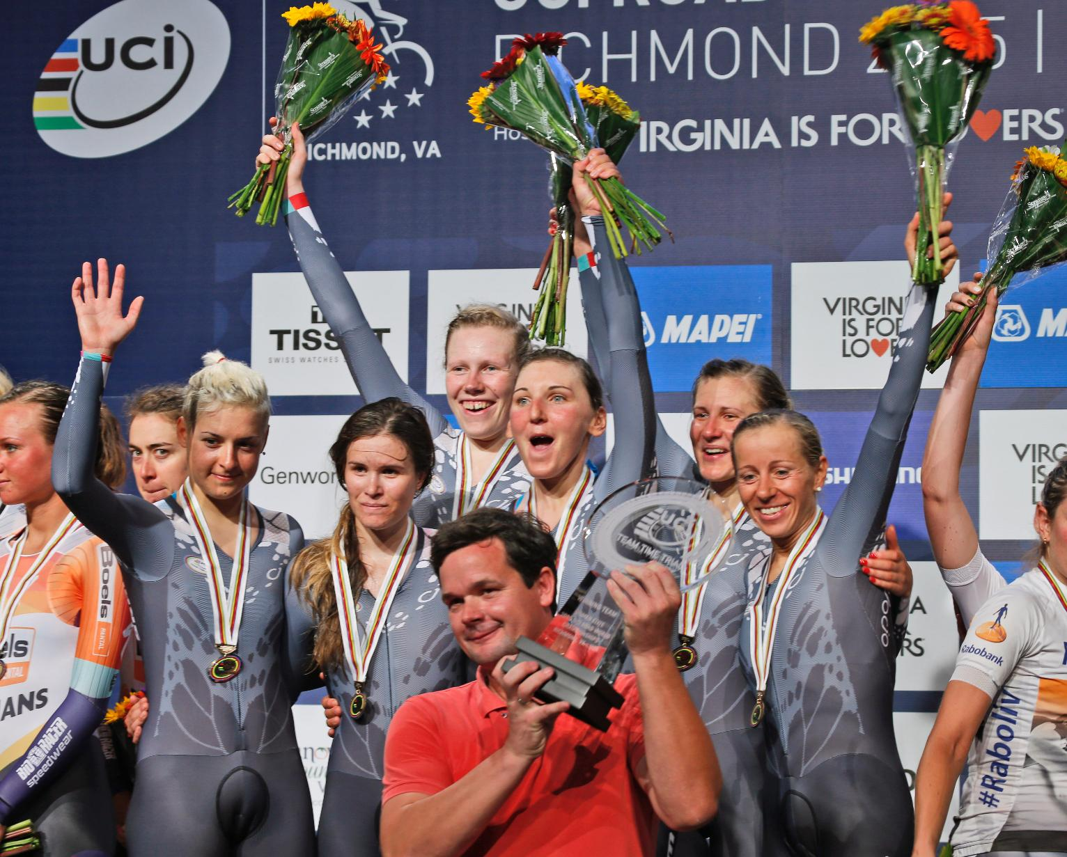 BMC Racing of US wins team time trial title in Richmond ...