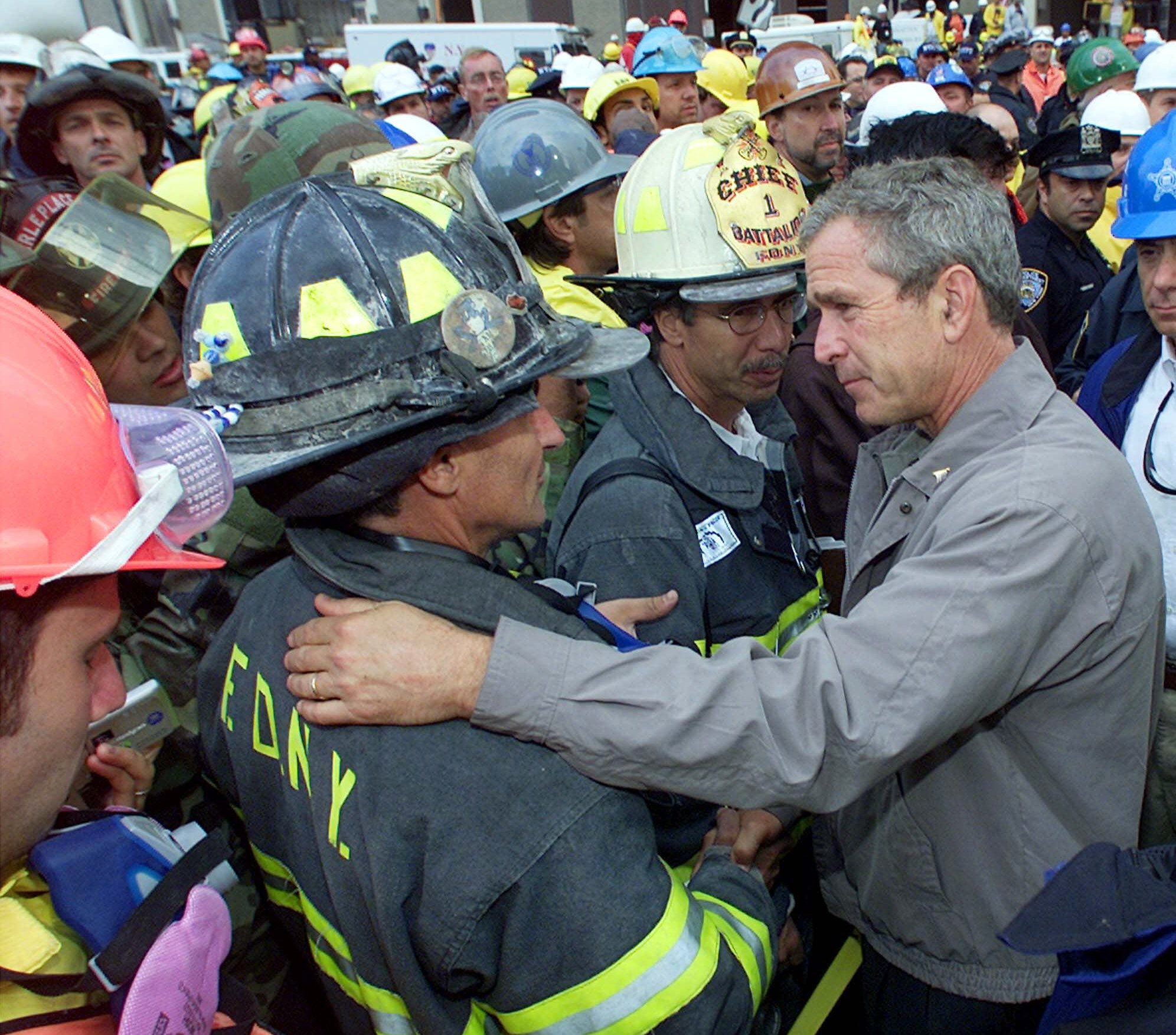 the terrorist crisis of sept 11 2001 and the response of president bush 9/11 as well as the response of the us  the report of the 9/11 commission of the u  in 2001, george w bush became president and faced the same dilemmas.