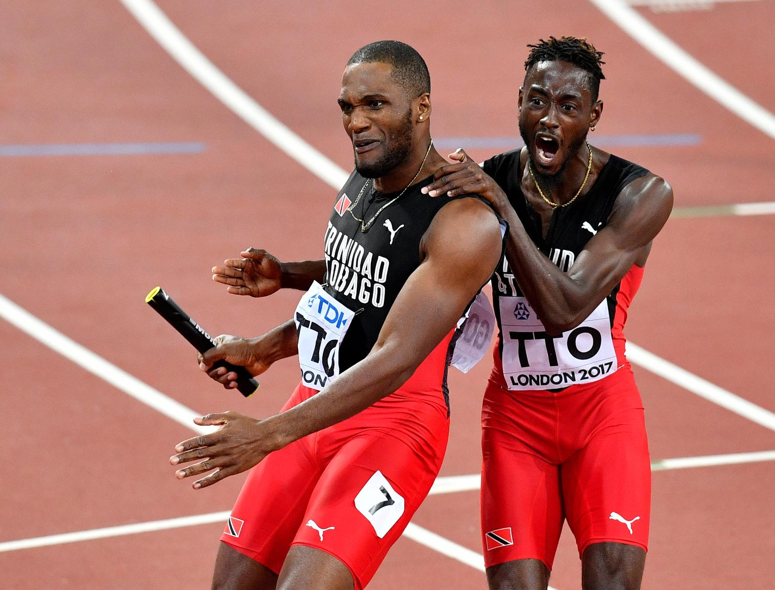 The Latest: Trinidad and Tobago Wins Men's 4x400-Meter Relay