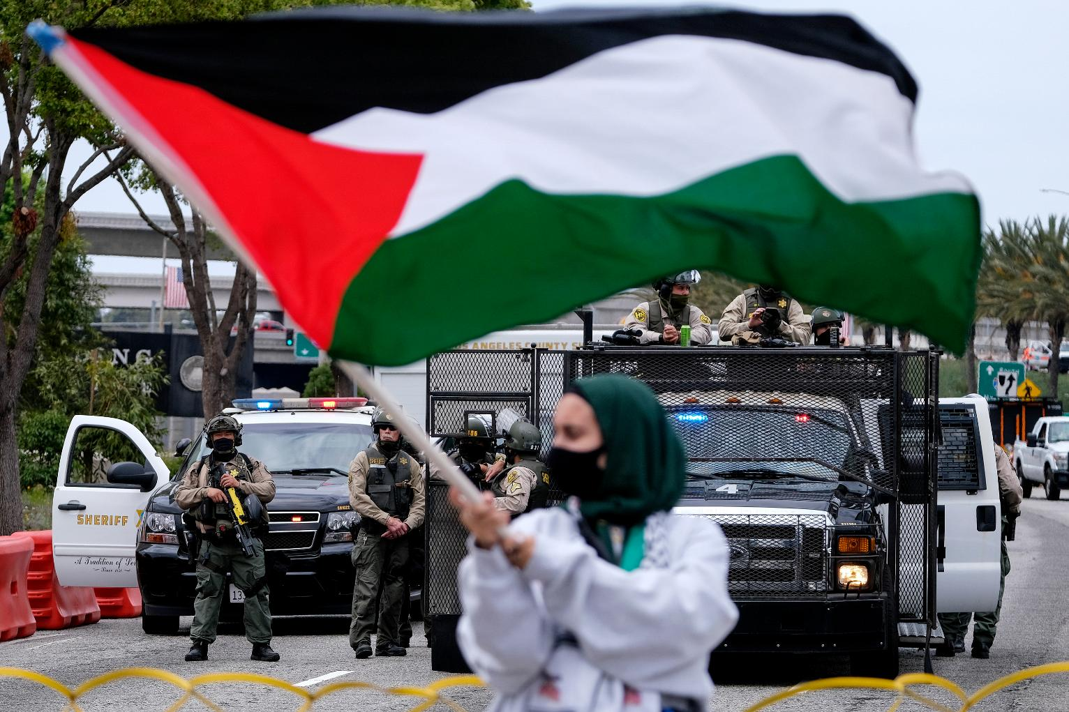 Protesters in Major US Cities Decry Airstrikes Over Gaza | California News | US News