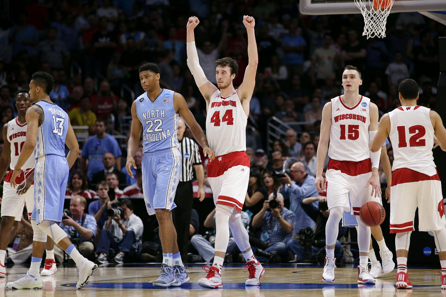Top-seeded Wisconsin hangs on to beat North Carolina 79-72 ...