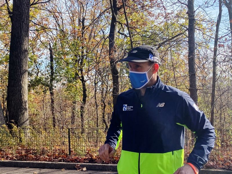 Blind Man Completes Solo 5K in Central Park with Trial App to Guide him
